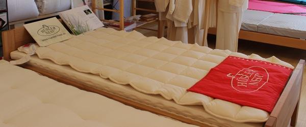「スイス製はいろんな組み合せが出来るので、お好みの寝心地が作れます。」